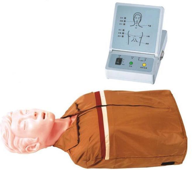 半身心肺复苏模拟人,心肺复苏模拟人.安检培训模拟人